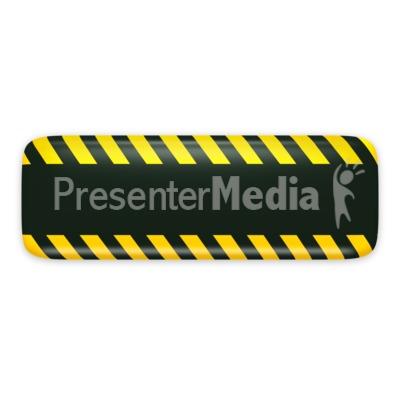Black Bar Caution Construction PowerPoint Clip Art