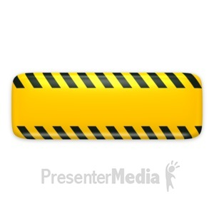 ID# 3132 - Yellow Bar Caution Construction - Presentation Clipart