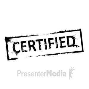 ID# 3165 - Certified Rubber Stamp - Presentation Clipart