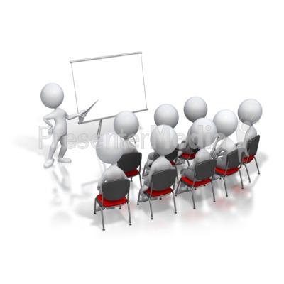 Stick Figure Presenter Meeting PowerPoint Clip Art