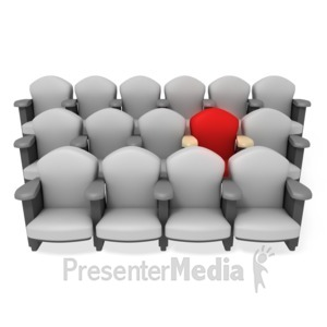 ID# 3273 - Best Seat in the House - Presentation Clipart