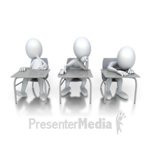 ID# 3276 - Three Bored Students - Presentation Clipart