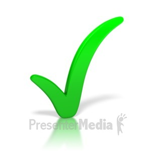 ID# 3296 - Check Mark Green - Presentation Clipart