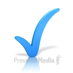 ID# 3297 - Check Mark Blue - Presentation Clipart