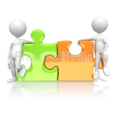 Puzzle Pieces Connected  PowerPoint Clip Art