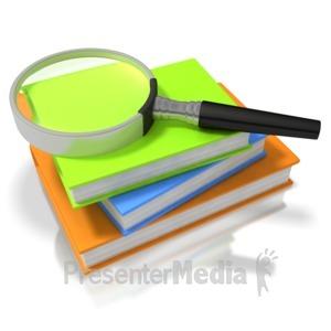 ID# 3376 - Book Search - Presentation Clipart