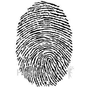 ID# 3379 - Black Fingerprint - Presentation Clipart