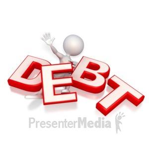 ID# 3381 - Trap Under Debt  - Presentation Clipart