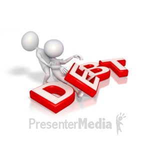 ID# 3384 - Help Out of Debt  - Presentation Clipart