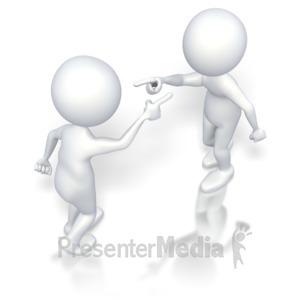 ID# 3394 - Stick Figures Accusing  - Presentation Clipart
