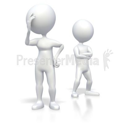 Stick Figure Debate - 3D Figures - Great Clipart for Presentations ...