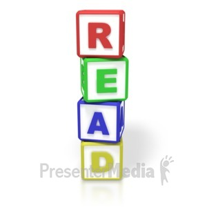 ID# 3407 - Reading Blocks - Presentation Clipart