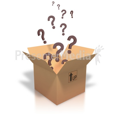 Question Marks Coming Out Of Box PowerPoint Clip Art