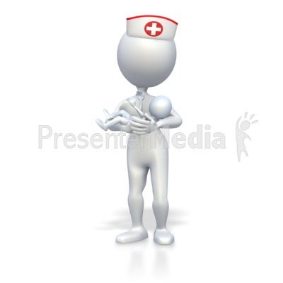 Presenter media powerpoint templates 3d animations and clipart id 3430 nurse with baby presentation clipart toneelgroepblik Images