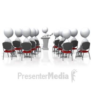 ID# 3442 - Seminar Speaker - Presentation Clipart