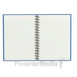 ID# 3446 - Open Notebook  - Presentation Clipart