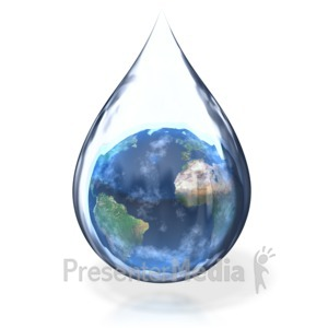 ID# 3459 - Earth Water Drop - Presentation Clipart