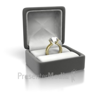 ID# 3480 - Diamond Ring Yellow Gold - Presentation Clipart