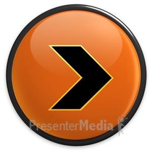 ID# 3492 - Arrow Orange Right Button - Presentation Clipart