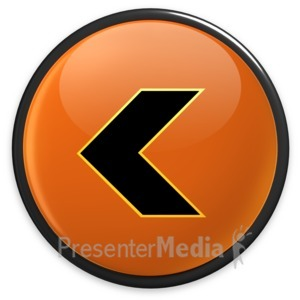 ID# 3493 - Arrow Orange Left Button - Presentation Clipart