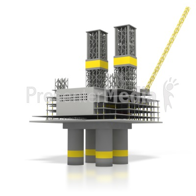 Off Shore Oil Rig  PowerPoint Clip Art