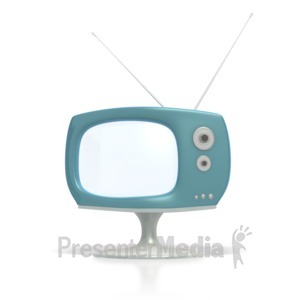ID# 3509 - Vintage Television  - Presentation Clipart