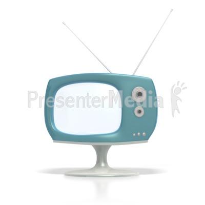 Vintage Television  PowerPoint Clip Art