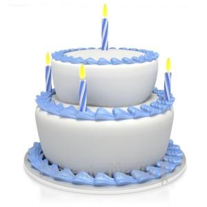 ID# 3516 - Birthday Cake  - Presentation Clipart