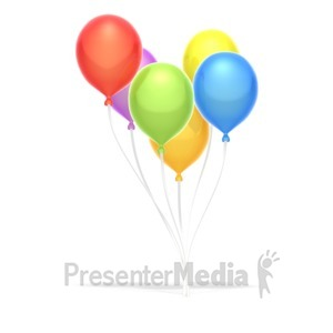 ID# 3518 - Party Balloons  - Presentation Clipart