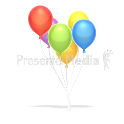 Party Balloons  PowerPoint Clip Art