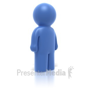 ID# 3534 - Single Stick Figure Standing - Presentation Clipart
