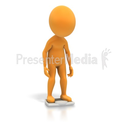 Figure On Bathroom Scale PowerPoint Clip Art