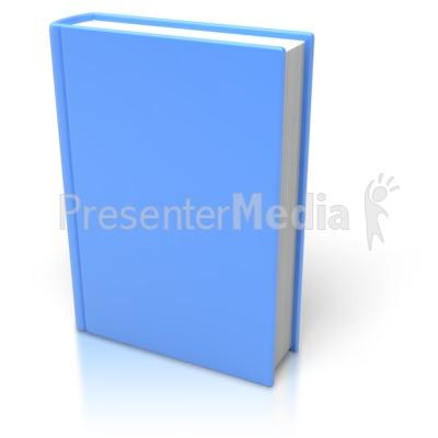 Blue Book Standing Upright PowerPoint Clip Art