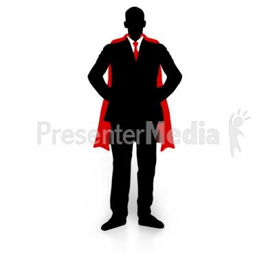 Business Guy Super Hero PowerPoint Clip Art
