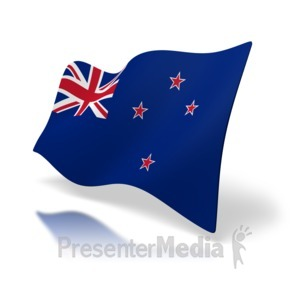 ID# 3555 - Flag Of New Zealand - Presentation Clipart