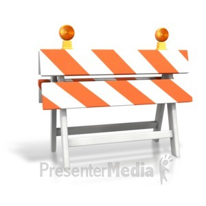 ID# 3561 - Construction Roadblock - Presentation Clipart