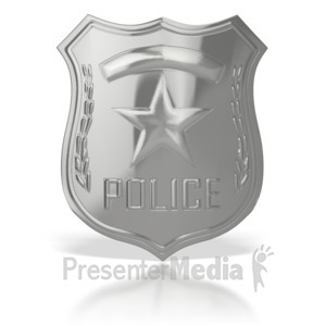 ID# 3598 - Police Badge  - Presentation Clipart