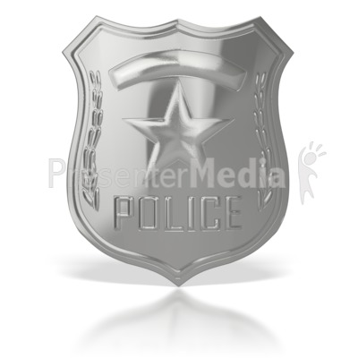 Police Officer Holding Badge - Signs and Symbols - Great Clipart ...