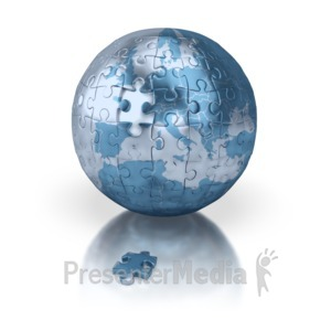 ID# 3601 - Puzzle Globe Europe - Presentation Clipart