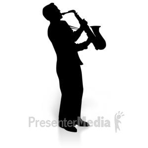 ID# 3613 - Saxaphone Player Music - Presentation Clipart