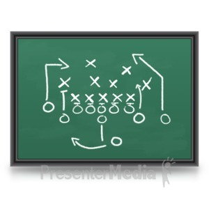 ID# 3615 - Game Plan Chalkboard - Presentation Clipart