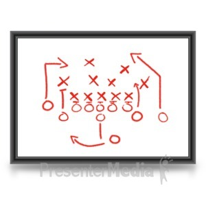 ID# 3616 - Game Plan Whiteboard - Presentation Clipart