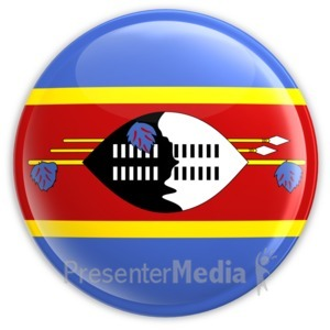 ID# 3631 - Swaziland Flag Button - Presentation Clipart