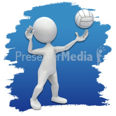 Presenter media powerpoint templates 3d animations and clipart id 3638 stick figure volleyball icon presentation clipart toneelgroepblik Images