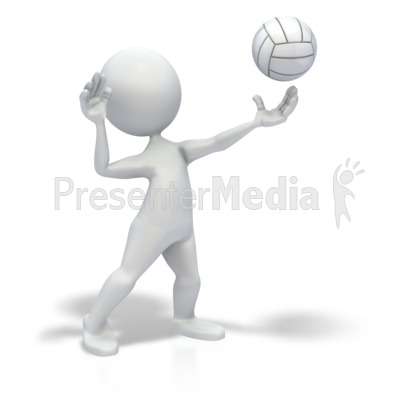 Stick figure serve volleyball sports and recreation great stick figure serve volleyball powerpoint clip art toneelgroepblik Images