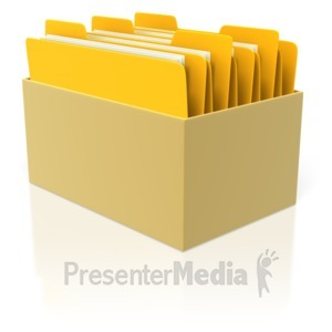 ID# 3649 - Box of Files  - Presentation Clipart