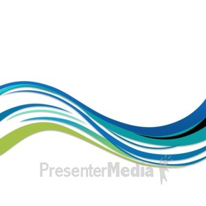 ID# 3650 - Blue and Green Swoosh  - Presentation Clipart