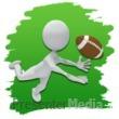 ID# 3651 - Stick Figure Football Icon - Presentation Clipart