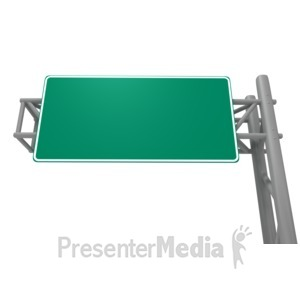 ID# 3653 - Blank Freeway Sign - Presentation Clipart