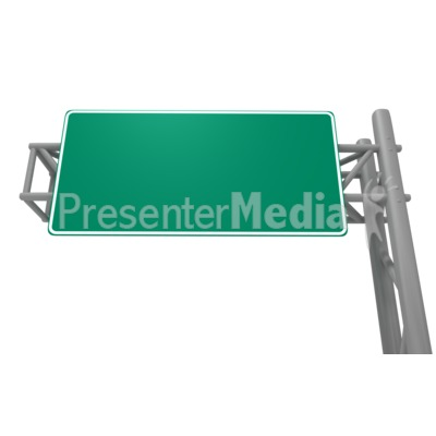 Blank Freeway Sign PowerPoint Clip Art